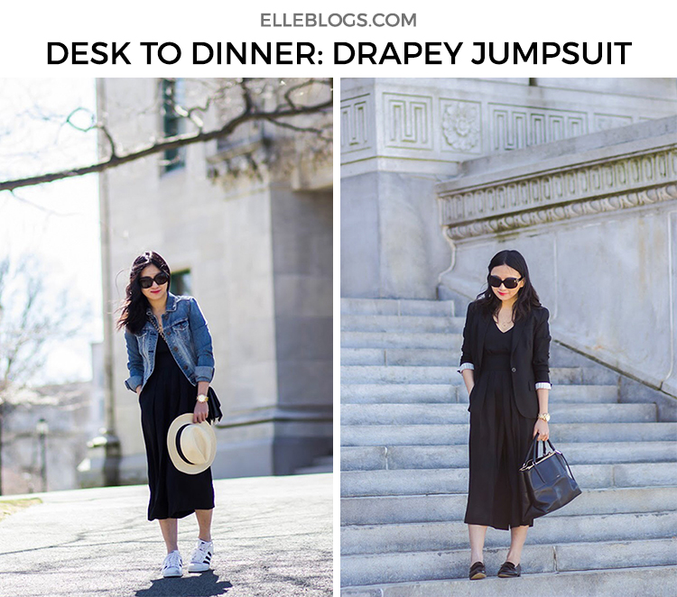Desk to Dinner: Drapey Jumpsuit