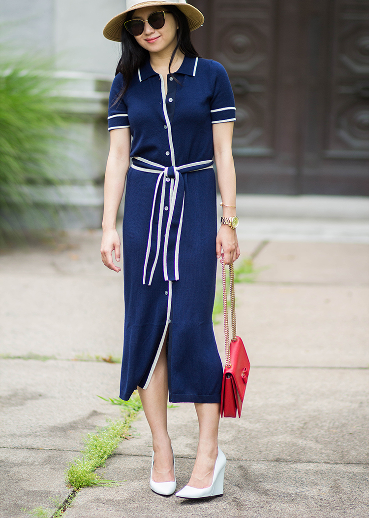 J. Crew Belted Shirtdress