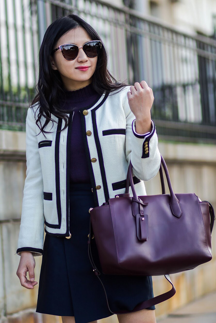 Lady Jacket & Leather Satchel