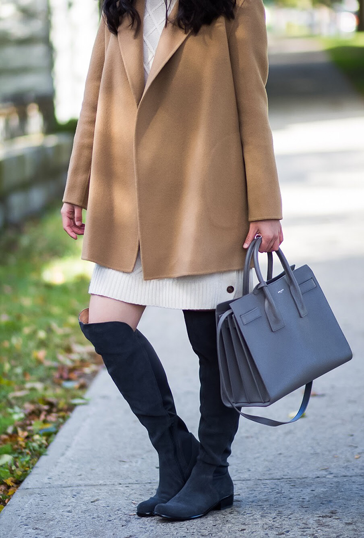 Fall Pairing Sweater Dress Tall Boots Elle Blogs