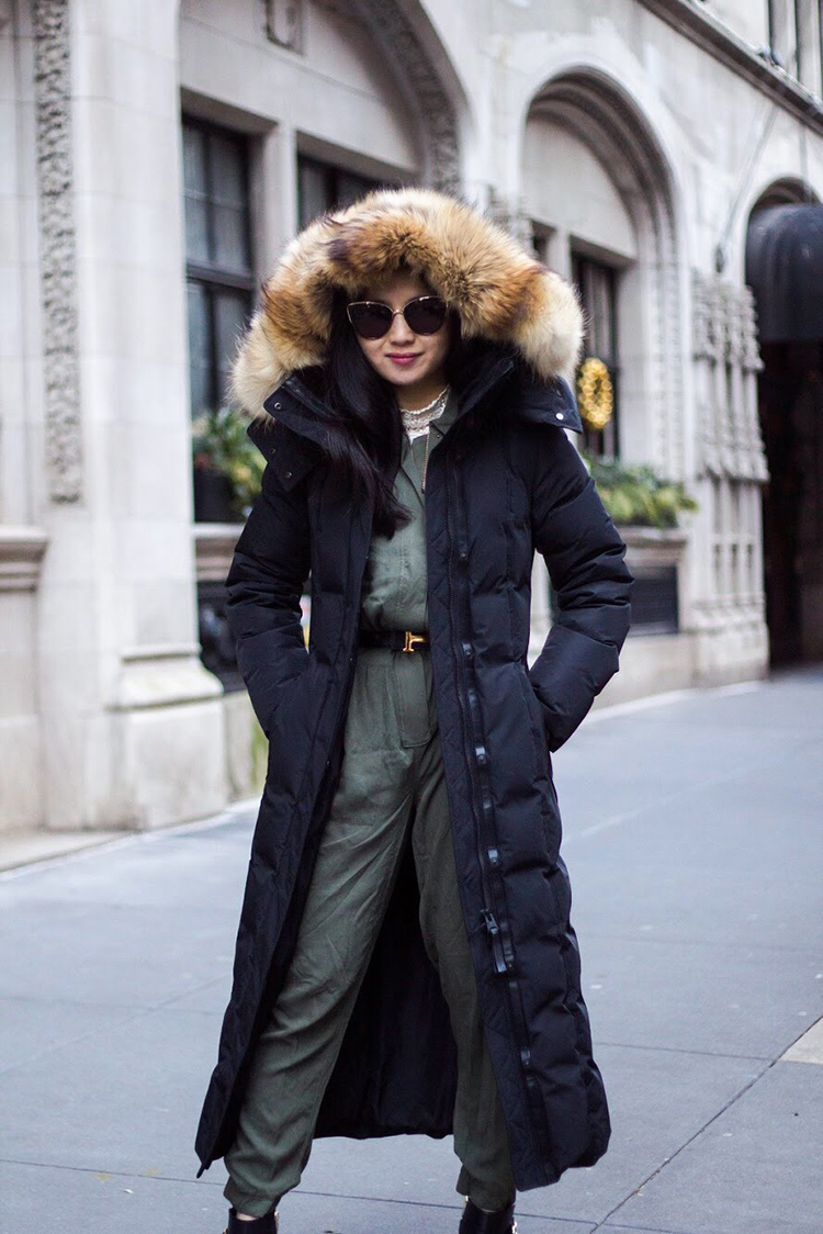 Utility Jumpsuit + Down Coat