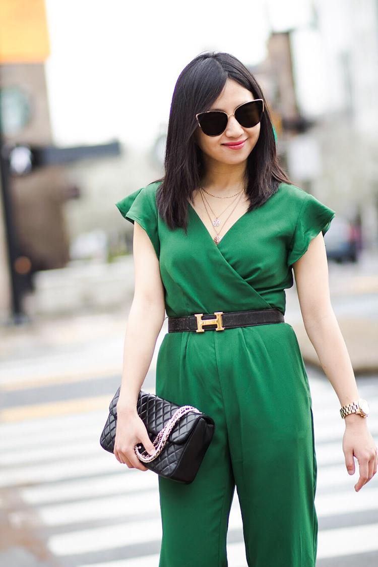 Green Jumpsuit (+ Ann Taylor Sale Alert)