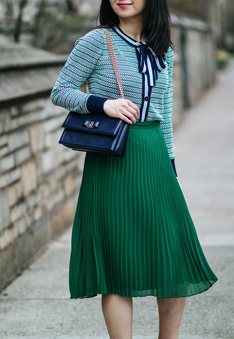 Lady Cardigan & Pleated Skirt