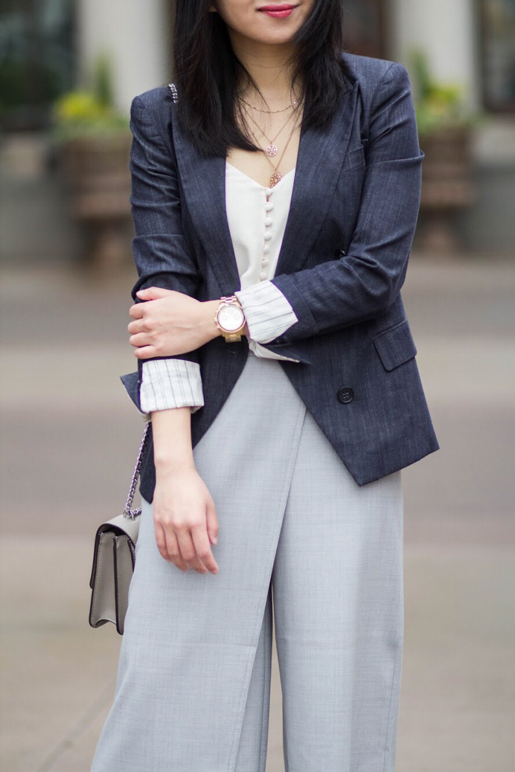 Denim Blazer + Crossover Pant
