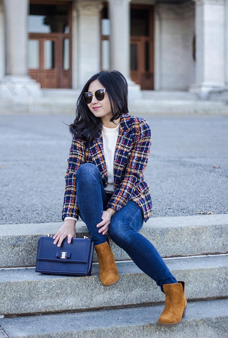 Tweed Jacket & Skinny Jeans