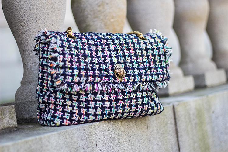 Review: Kurt Geiger London Large Kensington Tweed Shoulder Bag (Chanel 19 Bag Lookalike)