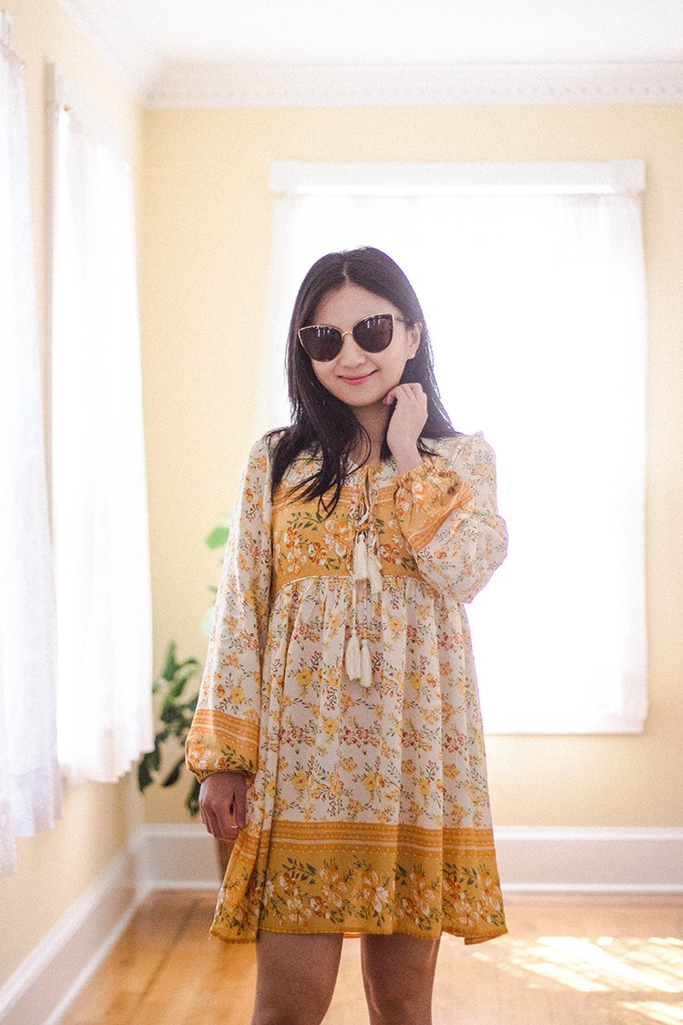 This image has an empty alt attribute; its file name is R.Vivimos-Long-Sleeve-Floral-Casual-Print-Cotton-Mini-Tunic-Dress-in-WhiteYellow.jpg