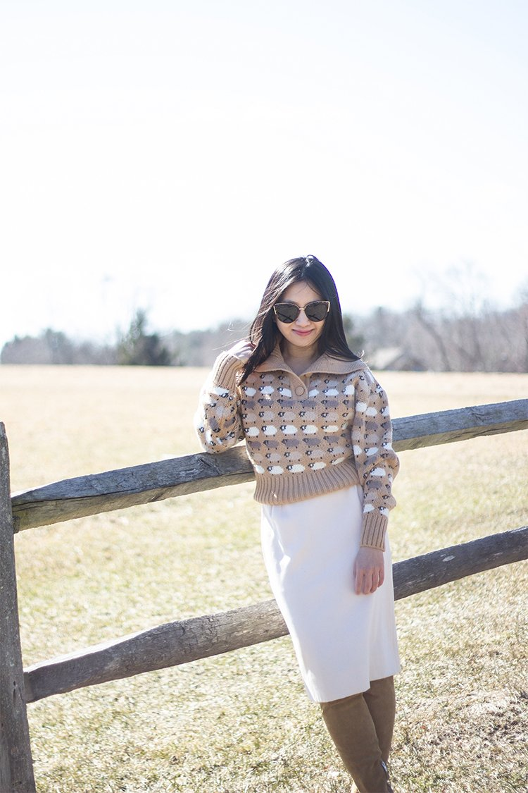 Jacquard Sweater & Midi Skirt