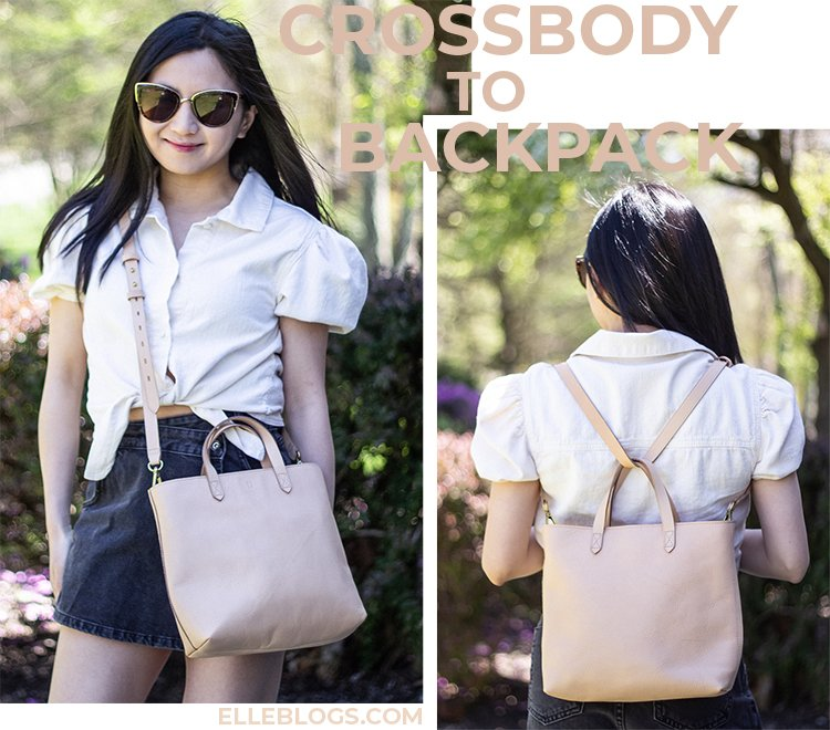 Style Hack: Crossbody Bag to Backpack