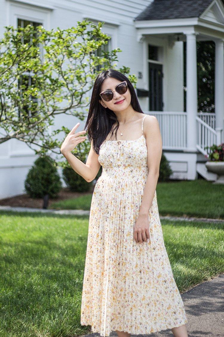 Review: J. Crew Smocked-Waist Pleated Dress